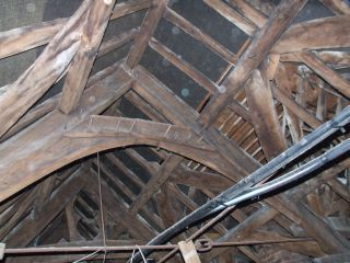 Mediaeval Timbers in the Master' House, Ledbury